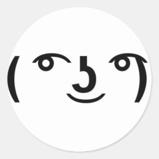 Lenny ansikten runt klistermärke