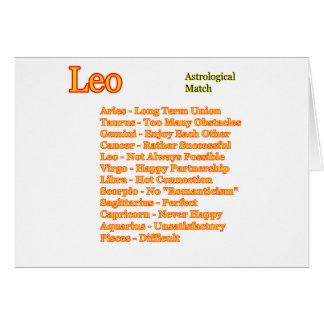 Leo astrologisk match de MUSEUMZazzle gåvorna Hälsningskort