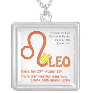 Leo drag kvadrerar halsbandet silverpläterat halsband