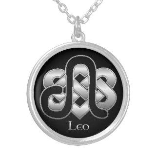 Leo födelse undertecknar det Celtic Silverpläterat Halsband