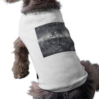 Leo Zodiac undertecknar i Grunge bedrövad dekor Husdjurströja