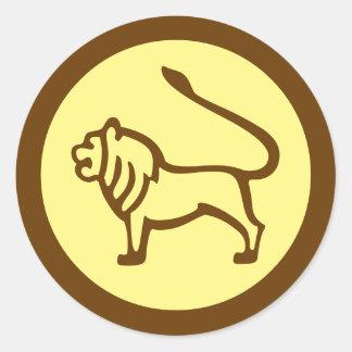 Leo Zodiac undertecknar Runt Klistermärke