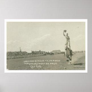 Leonard Stroud trickriding. Poster
