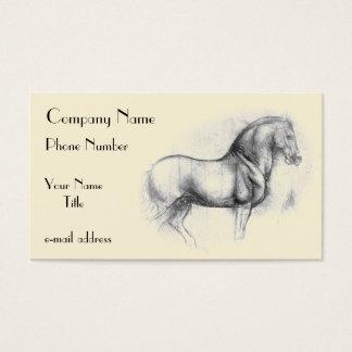 Leonardo-da-Vinci-häst Visitkort