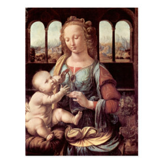 Leonardo Da Vinci - Madonna med nejlikan Vykort
