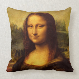 Leonardo Da Vinci Mona Lisa konstmålning Kudde