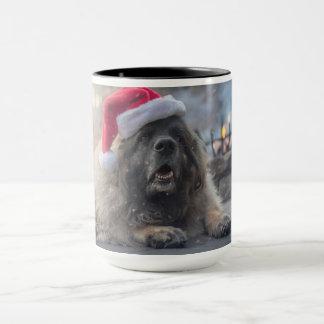 Leonberger Santa Mugg