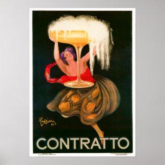 Leonetto Cappiello Contratto starkspritannonsering Poster