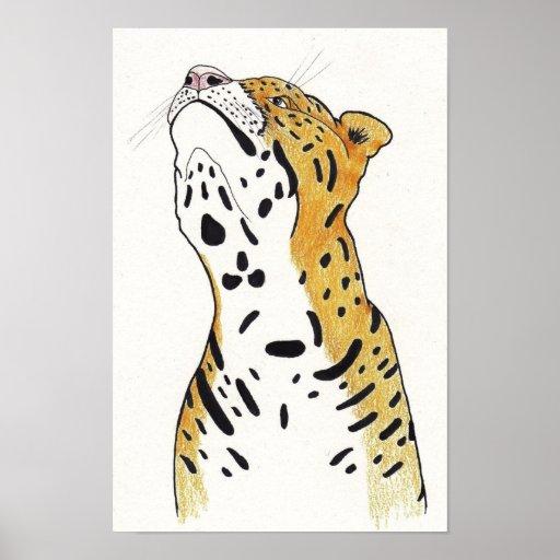 Leopard Affisch