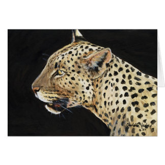 """Leopard"" djurlivkonst Notecard Hälsningskort"
