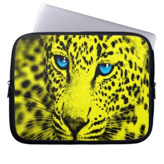 Leopard för Corey tiger80-tal (gult) Laptop Datorfodral