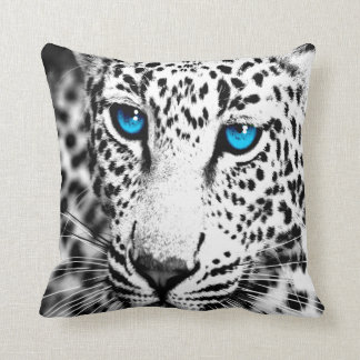 Leopard för snö för Corey tiger80-tal Retro Kudde