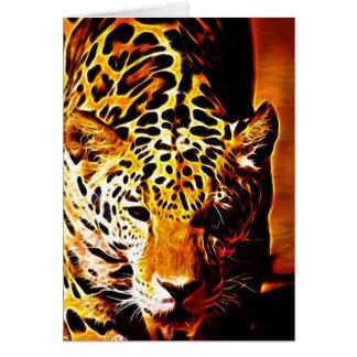 Leopard Gotcha Hälsningskort