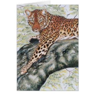 """""""Leopard """", Hälsningskort"""