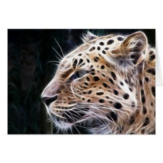 Leopard linjer, Leopard målning Hälsningskort