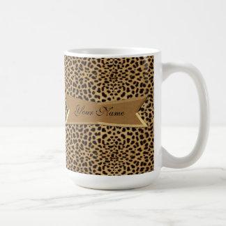 Leopard och baner kaffemugg