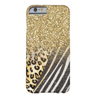 Leopard och sebra för fantastisk flickaktigt barely there iPhone 6 skal
