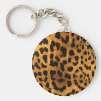 leopard-tryck rund nyckelring