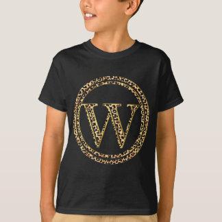leopardalfabet W T-shirt