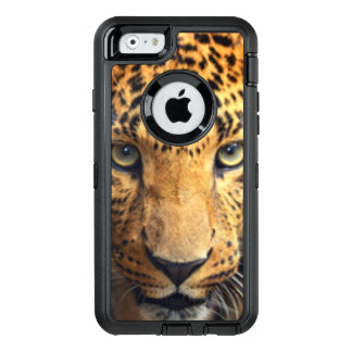 Leopardansikte OtterBox Defender iPhone Skal