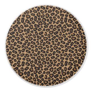 Leopardbrunt och svart mönster
