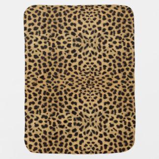 Leoparden flår mönster bebisfilt