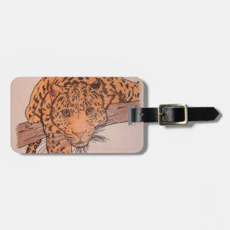 leoparden ritar bagagemärkren bagagebricka