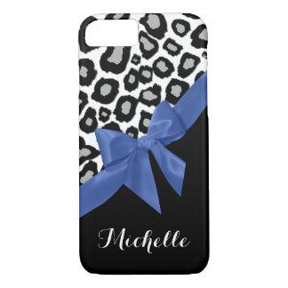 Leopardfläck- och blåttpilbåge med namn