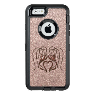 Leopardlilja OtterBox Defender iPhone Skal