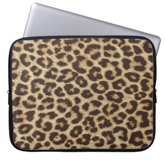 Leopardmönsterlaptop sleeve laptop datorfodral