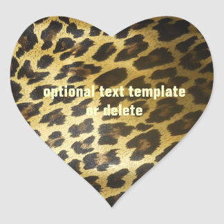 Leopardpälshjärta Hjärtformat Klistermärke