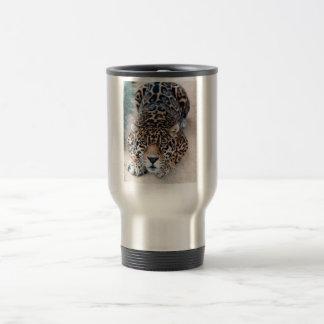 Leopardtravel mug rostfritt stål resemugg