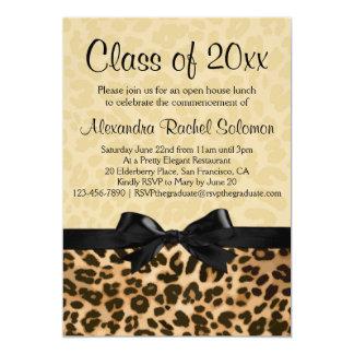 Leopardtryck med pilbågestudenten/partyinbjudan 12,7 x 17,8 cm inbjudningskort