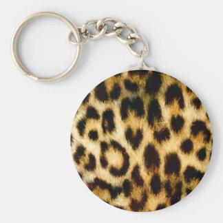 Leopardtryck Rund Nyckelring