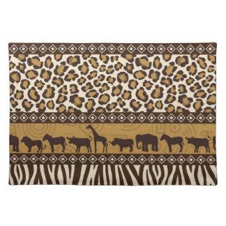 Leopardtryck- och afrikandjur bordstablett