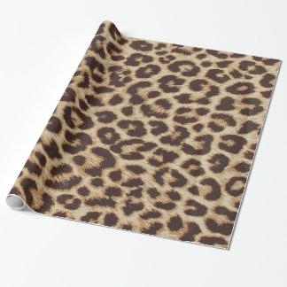 Leopardtryck som slår in papper presentpapper