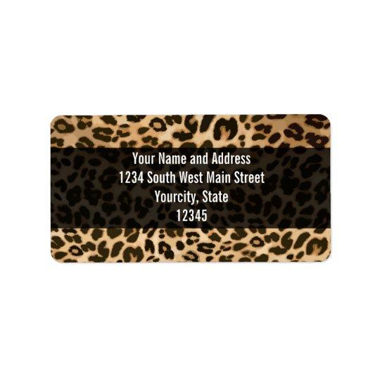 Leopardtryckbakgrund Adressetikett