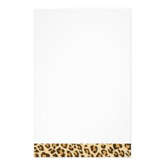 Leopardtryckbrevpapper Brevpapper