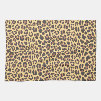 Leopardtryckdjur flår mönster handhandukar