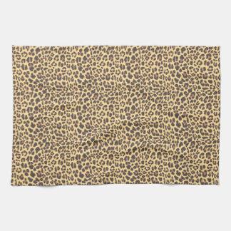 Leopardtryckdjur flår mönster handuk