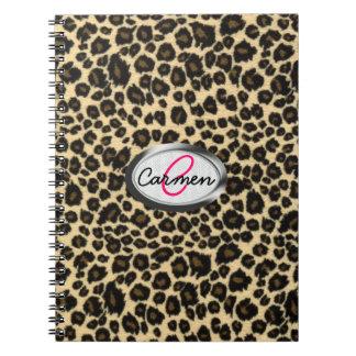 LeopardtryckMonogram Anteckningsbok