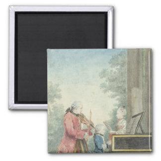 Leopold Mozart och hans barn Wolfgang Magnet