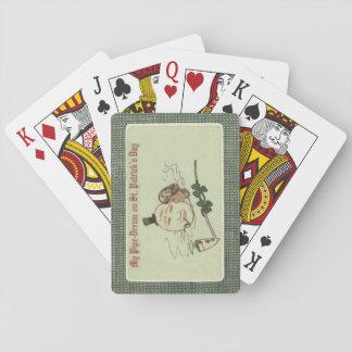 Lera för kvinnafullmåneshamrocken leda i rör spelkort