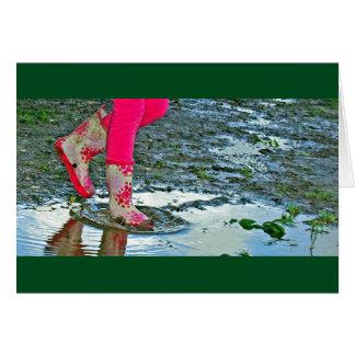 lera- och pölkort hälsningskort