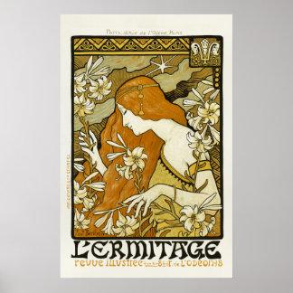 L'Ermitage - art nouveauaffisch av Paul Berthon Affischer