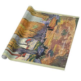 les Alyscamps av Van Gogh. Vintagenedgång, höst Presentpapper