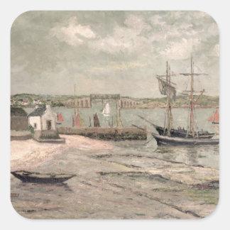 Les Huitrieres, La Trinite-Sur-Mer, Morbihan, 1912 Fyrkantigt Klistermärke