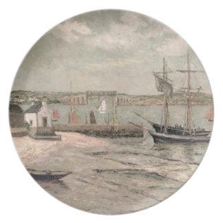 Les Huitrieres, La Trinite-Sur-Mer, Morbihan, 1912 Fest Tallrikar