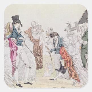 Les Invisibles', c.1807 Fyrkantigt Klistermärke