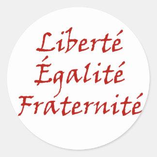 Les Misérables kärlek: Liberté Égalité, Fraternité Runt Klistermärke
